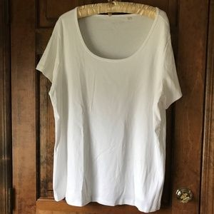 Sejour White Short Sleeve Tee 3X